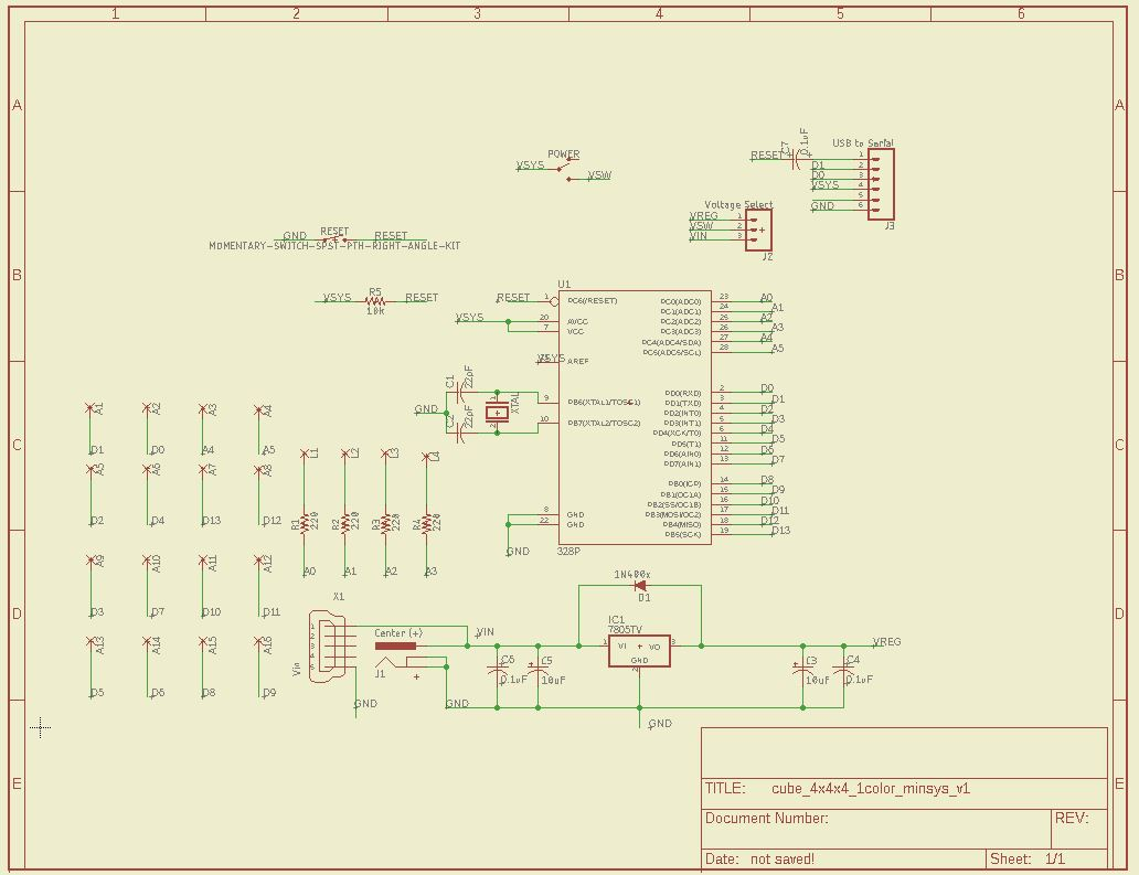 LED Cube Base Board Schematic